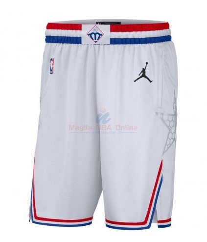 Acquista Pantaloncini NBA 2019 All Star Bianco