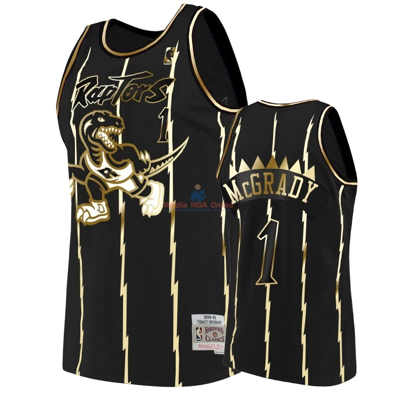 Acquista Maglia NBA Nike Toronto Raptors #1 Tracy McGrady Oro Edition