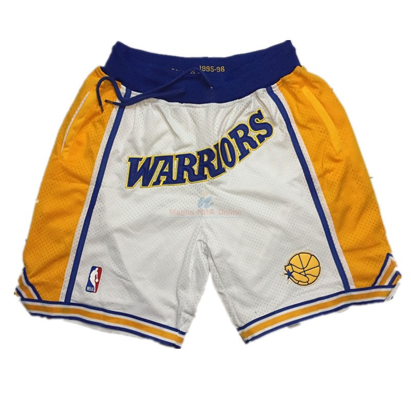 Pantaloni Basket Golden State Warriors Curry Bianco Acquista