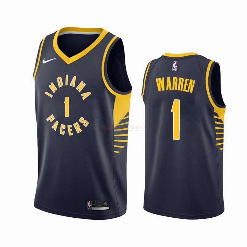 Maglia NBA Nike Indiana Pacers #1 T.J. Warren Gray Marino Icon 2019-20 Acquista