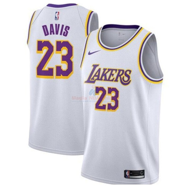 Maglia NBA Nike Los Angeles Lakers #23 Anthony Davis Bianco Association 2019-20 Acquista
