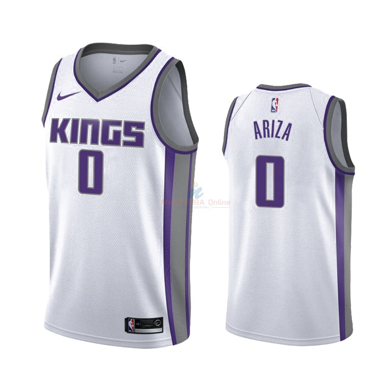 Maglia NBA Nike Sacramento Kings #0 Trevor Ariza Bianco Association 2019-20 Acquista