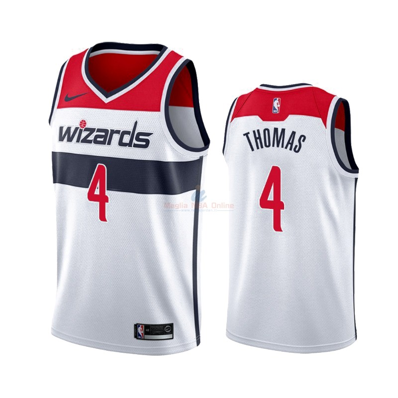 Maglia NBA Nike Washington Wizards #4 Isaiah Thomas Bianco Association 2019-20 Acquista