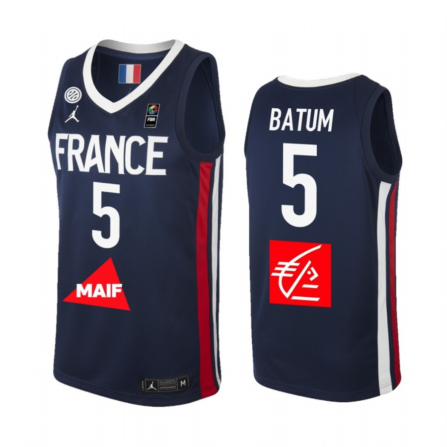 Coppa Mondo Basket FIBA 2019 France #5 Nicolas Batum Marino Acquista