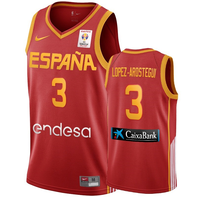 Coppa Mondo Basket FIBA 2019 Spain #3 Lopez Arostegui Vino Tinto Acquista
