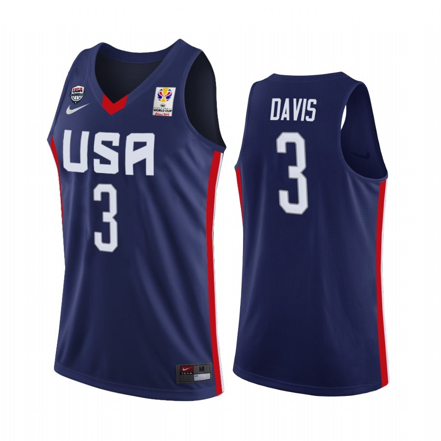 Coppa Mondo Basket FIBA 2019 USA #3 Anthony Davis Marino Acquista