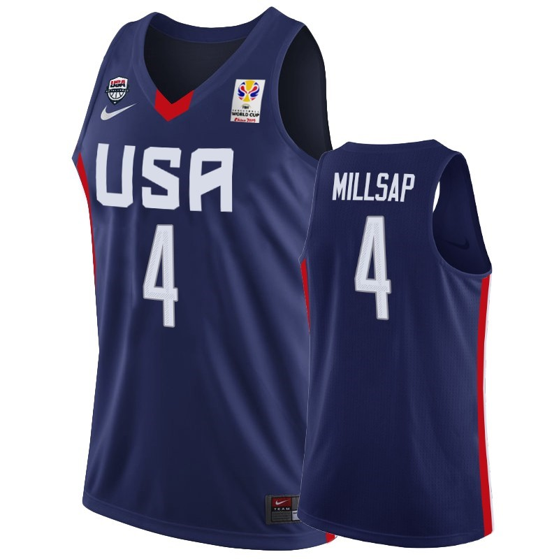 Coppa Mondo Basket FIBA 2019 USA #4 Paul Millsap Marino Acquista