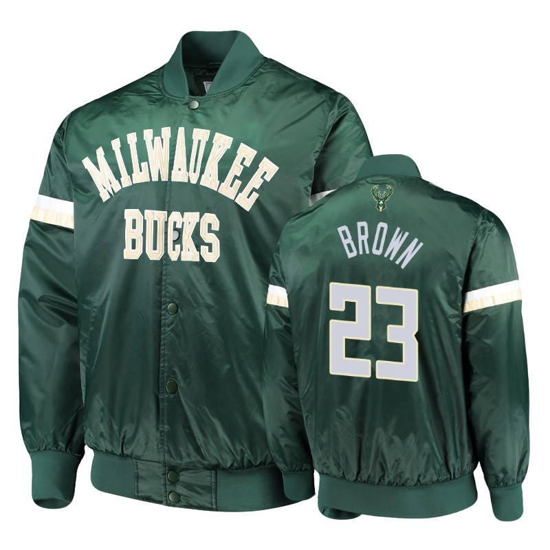 Giacca NBA Milwaukee Bucks #23 Sterling Brown Verde Acquista