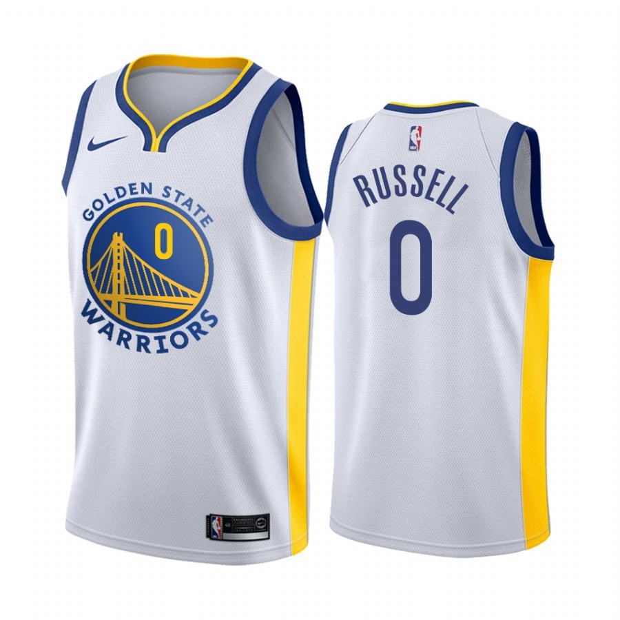 Maglia NBA Nike Golden State Warriors #0 D'Angelo Russell Bianco Association Acquista
