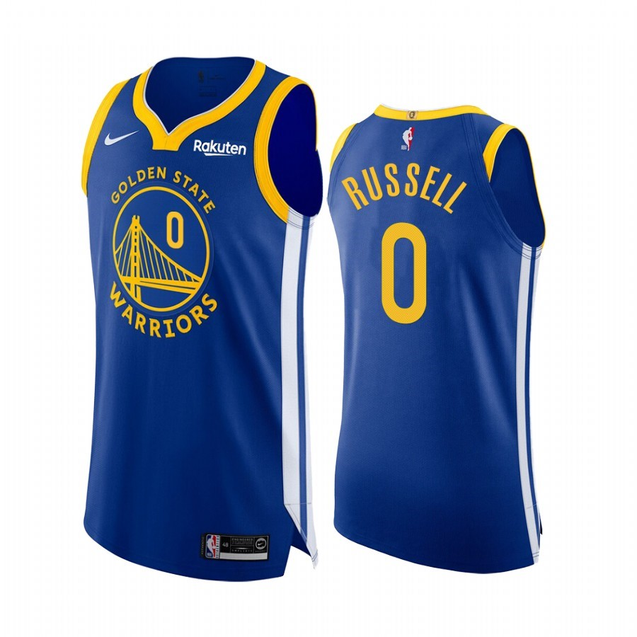 Maglia NBA Nike Golden State Warriors #0 D'Angelo Russell Blu Icon Edition Acquista