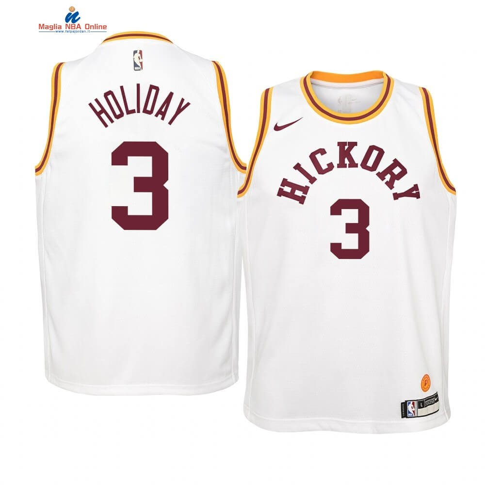 Maglia NBA Bambino Indiana Pacers #3 Aaron Holiday Nike Retro Bianco Acquista