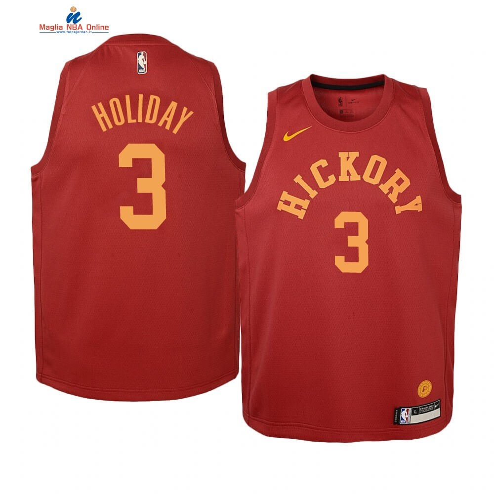 Maglia NBA Bambino Indiana Pacers #3 Aaron Holiday Nike Retro Marrone Acquista
