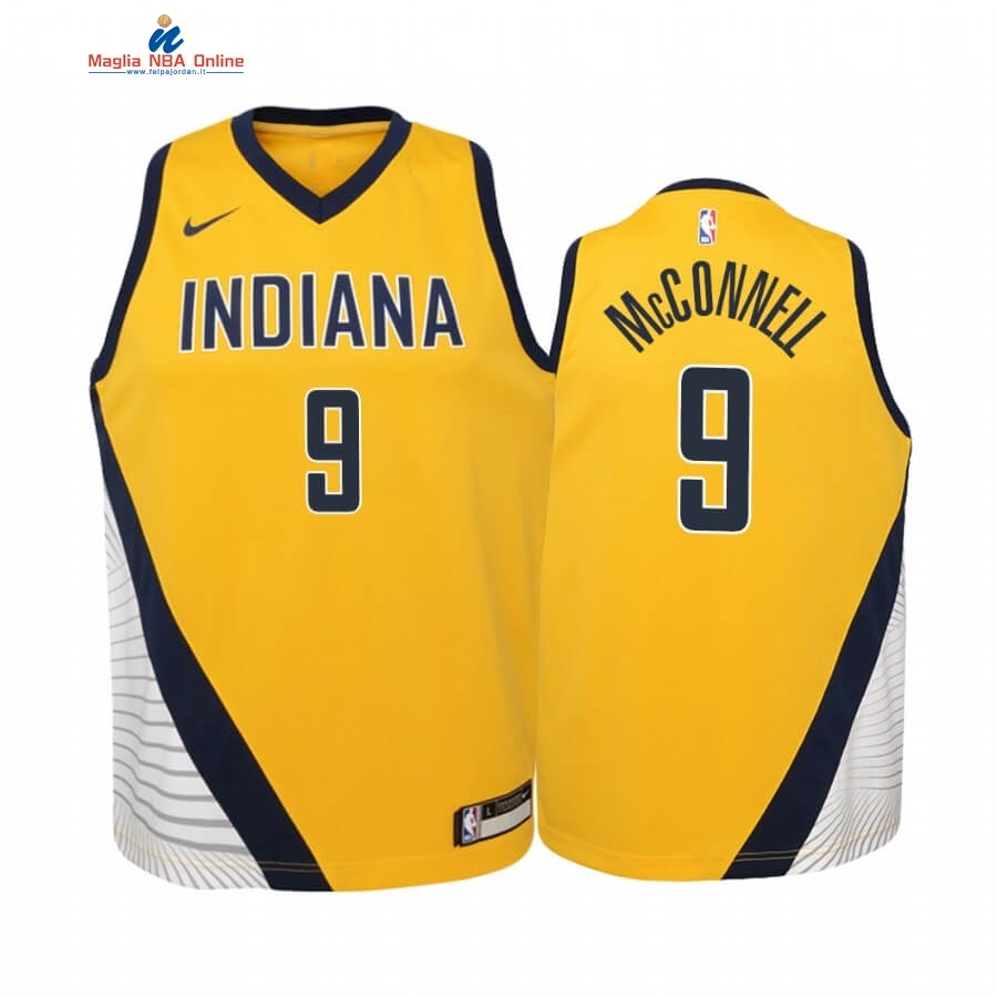 Maglia NBA Bambino Indiana Pacers #8 Justin Holiday Giallo Statement 2019-20 Acquista