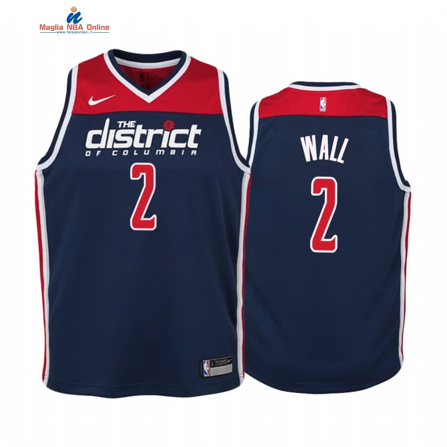 Maglia NBA Bambino Washington Wizards #2 John Wall Marino Statement 2019-20 Acquista