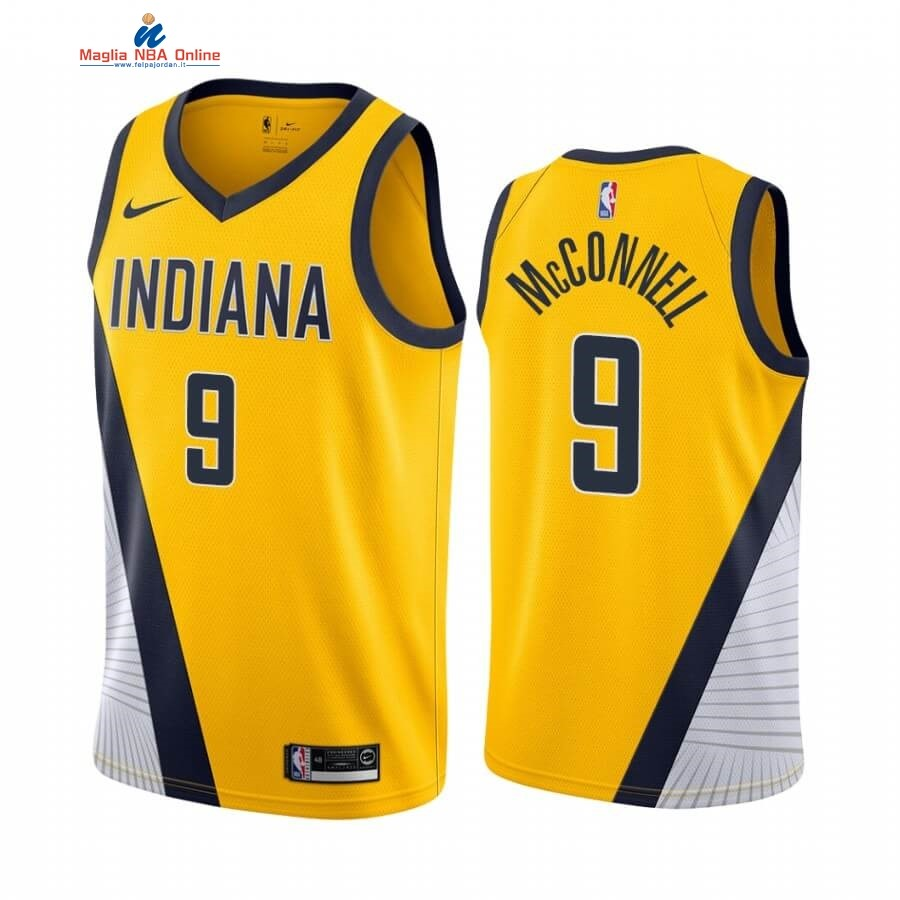 Maglia NBA Nike Indiana Pacers #9 T.J. McConnell Giallo Statement 2019-20 Acquista