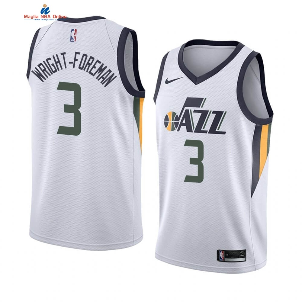 Maglia NBA Nike Utah Jazz #3 Justin Wright-Foreman Bianco Association 2019-20 Acquista