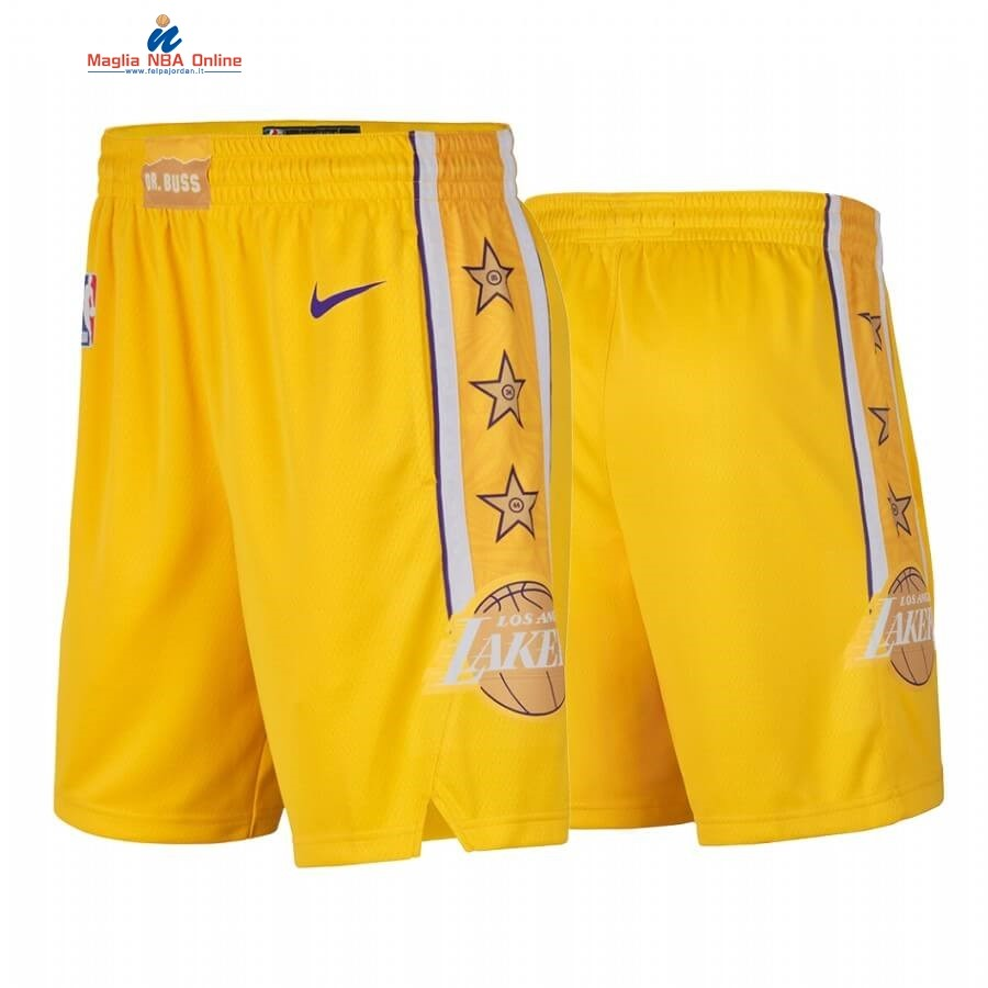 Pantaloni Basket Los Angeles Lakers Nike Giallo Città 2019-20 Acquista