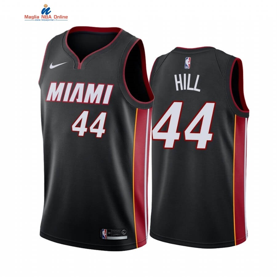 Maglia NBA Miami Heat #44 Solomon Hill Nero Icon 2019-20 Acquista