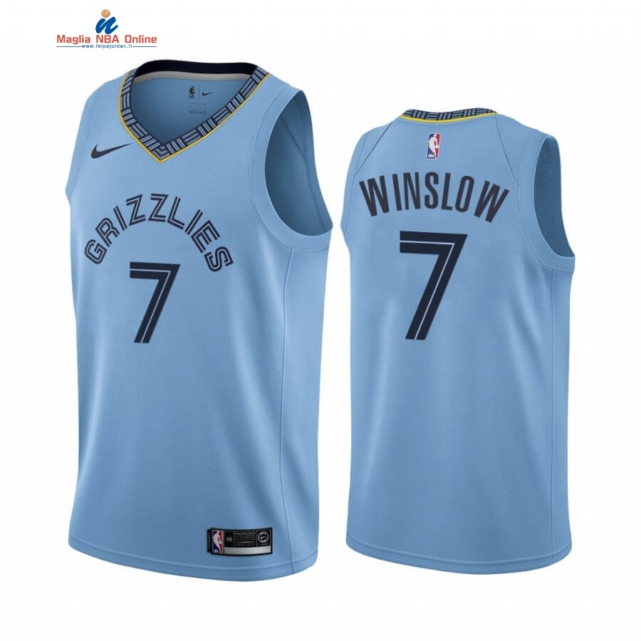 Maglia NBA Nike Menphis Grizzlies #7 Justise Winslow Blu Statement 2019-20 Acquista