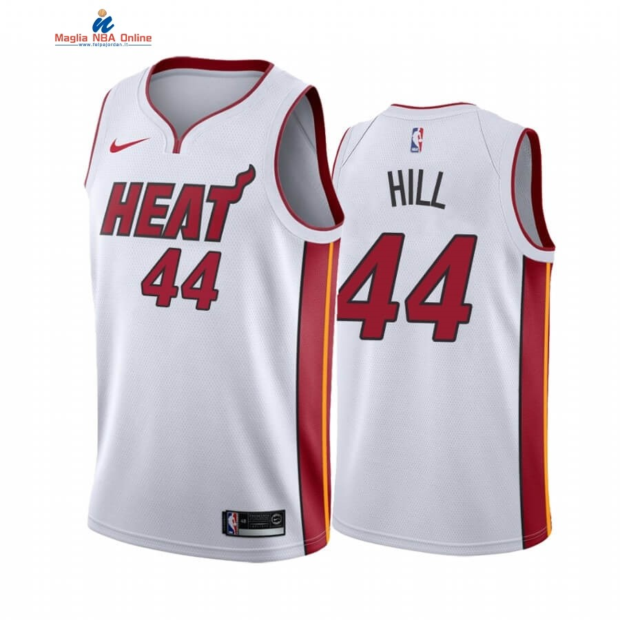 Maglia NBA Nike Miami Heat #44 Solomon Hill Bianco Association 2019-20 Acquista