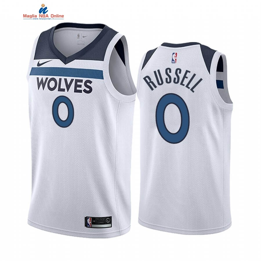 Maglia NBA Nike Minnesota Timberwolves #0 D'angelo Russell Bianco Association 2019-20 Acquista