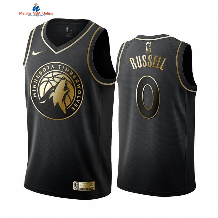 Maglia NBA Nike Minnesota Timberwolves #0 D'angelo Russell Oro Edition 2019-20 Acquista