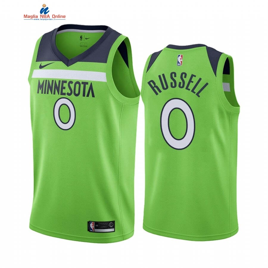 Maglia NBA Nike Minnesota Timberwolves #0 D'angelo Russell Verde Statement 2019-20 Acquista