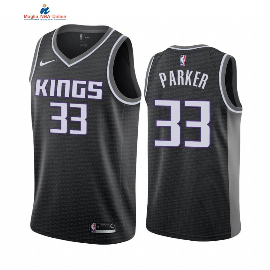 Maglia NBA Nike Sacramento Kings #33 Jabari Parker Nero Statement 2019-20 Acquista