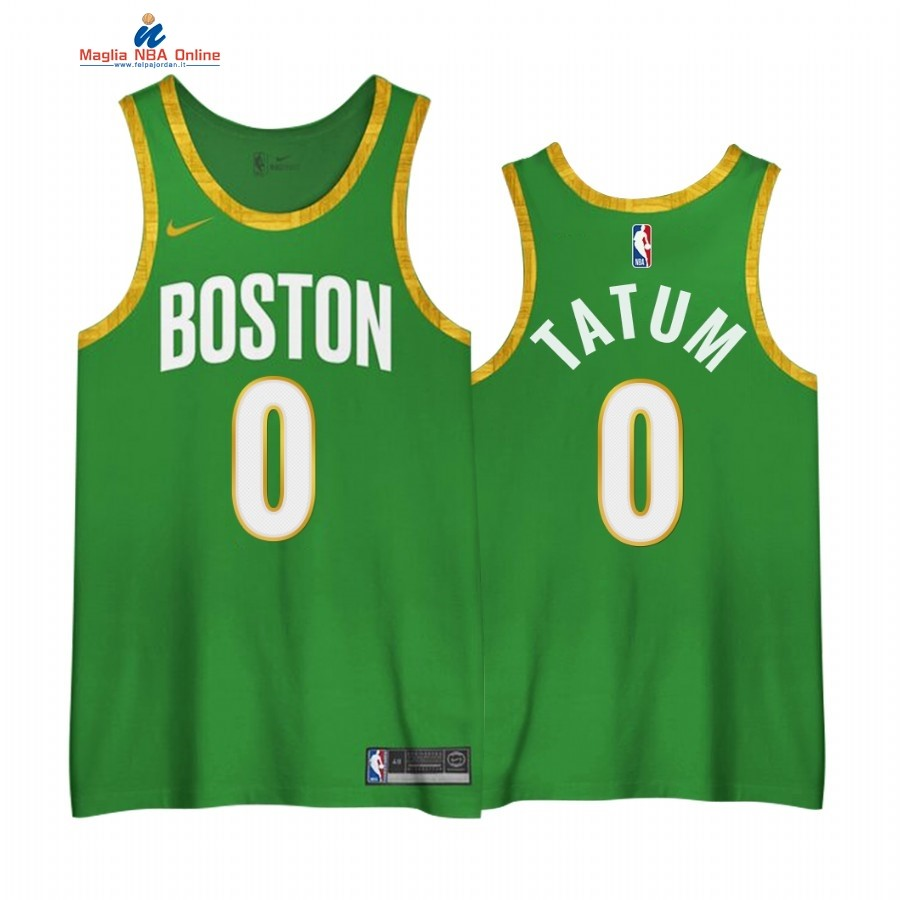 Maglia NBA Edición Ganada Boston Celtics #0 Jayson Tatum Verde 2020-21 Acquista