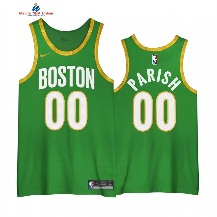 Maglia NBA Edición Ganada Boston Celtics #00 Robert Parish Verde 2020-21 Acquista
