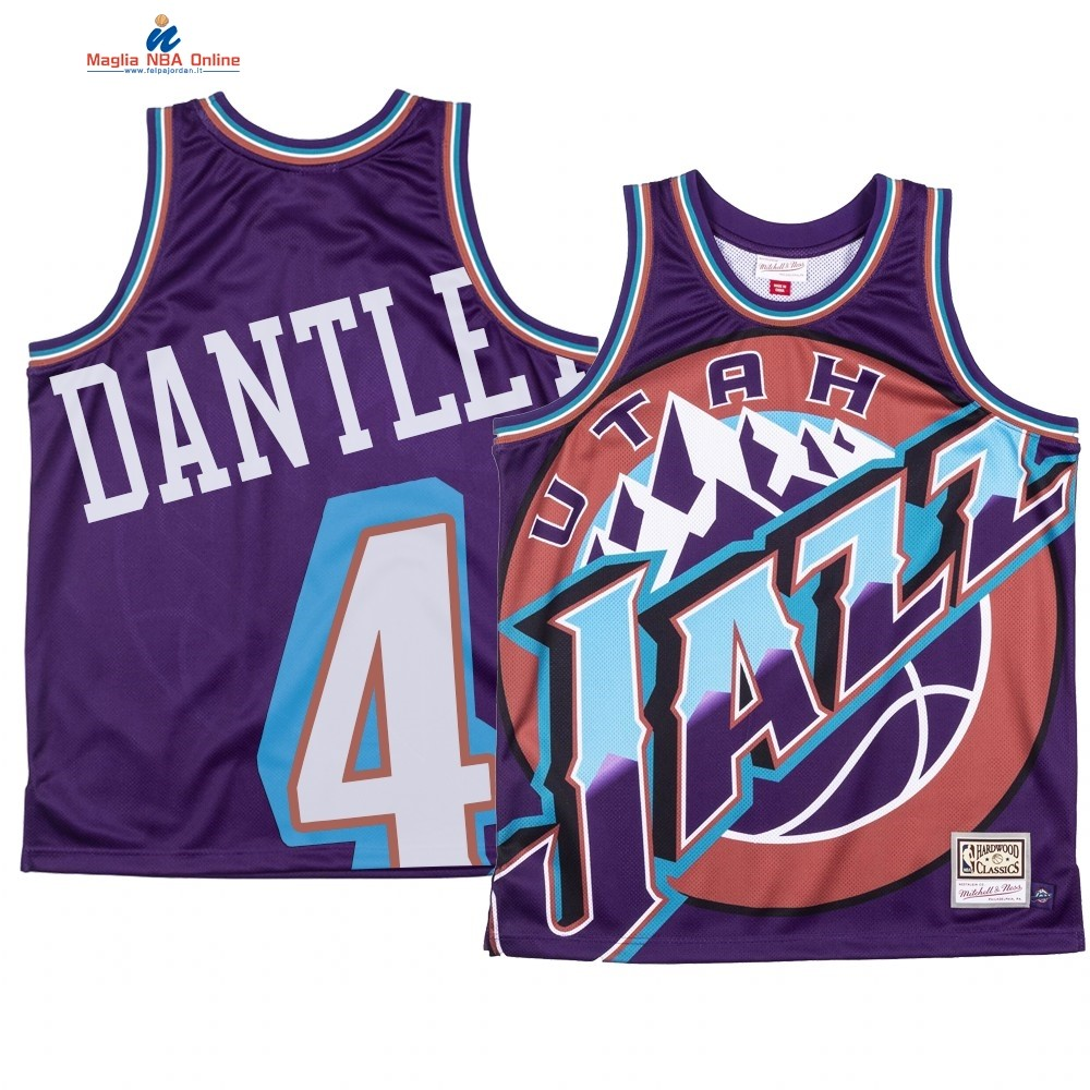 Maglia NBA Utah Jazz Big Face #4 Adrian Dantley Porpora Acquista