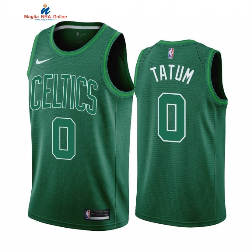 Maglia NBA Earned Edition Boston Celtics #0 Jayson Tatum Verde 2020-21 Acquista