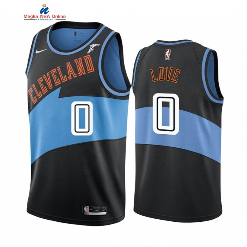 Maglia NBA Earned Edition Cleveland Cavaliers #0 Kevin Love Nero 2019-20 Acquista