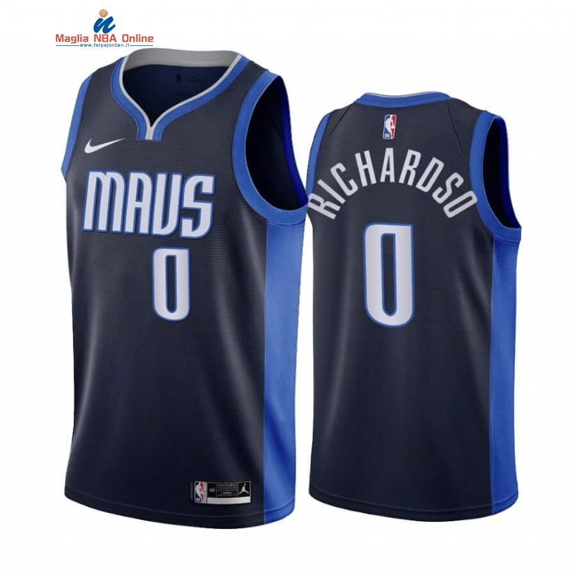 Maglia NBA Earned Edition Dallas Mavericks #0 Josh Richardson Marino 2020-21 Acquista