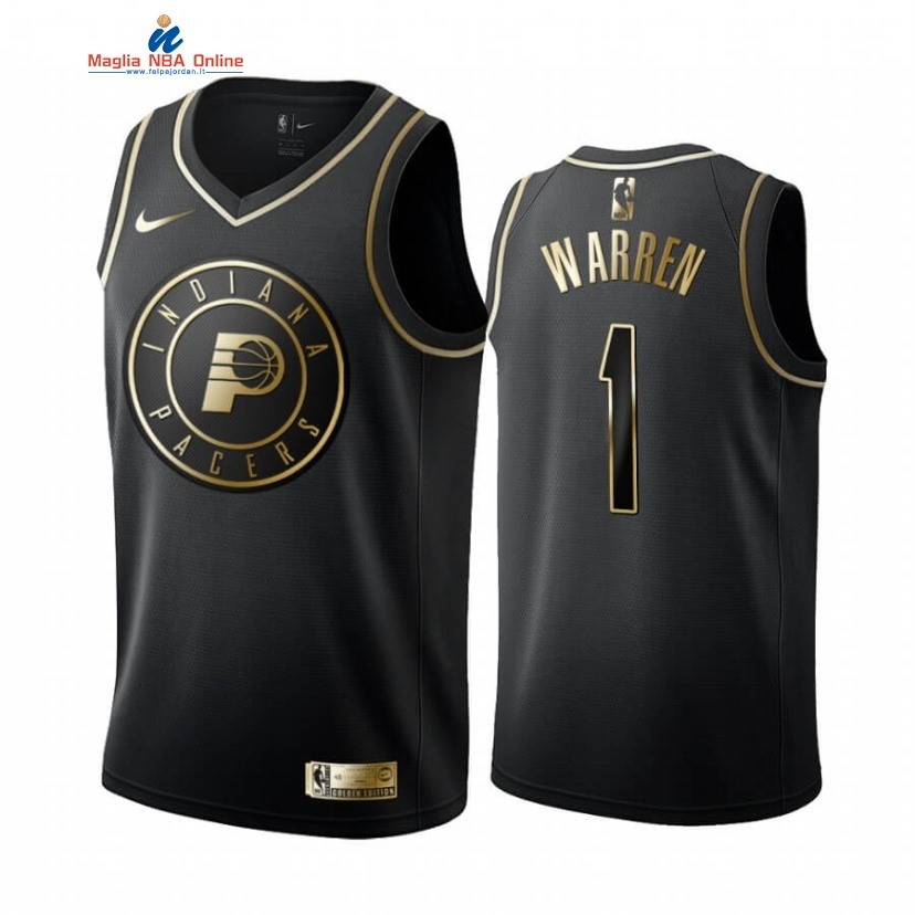 Maglia NBA Nike Indiana Pacers #1 T.J. Warren Oro Edition Acquista