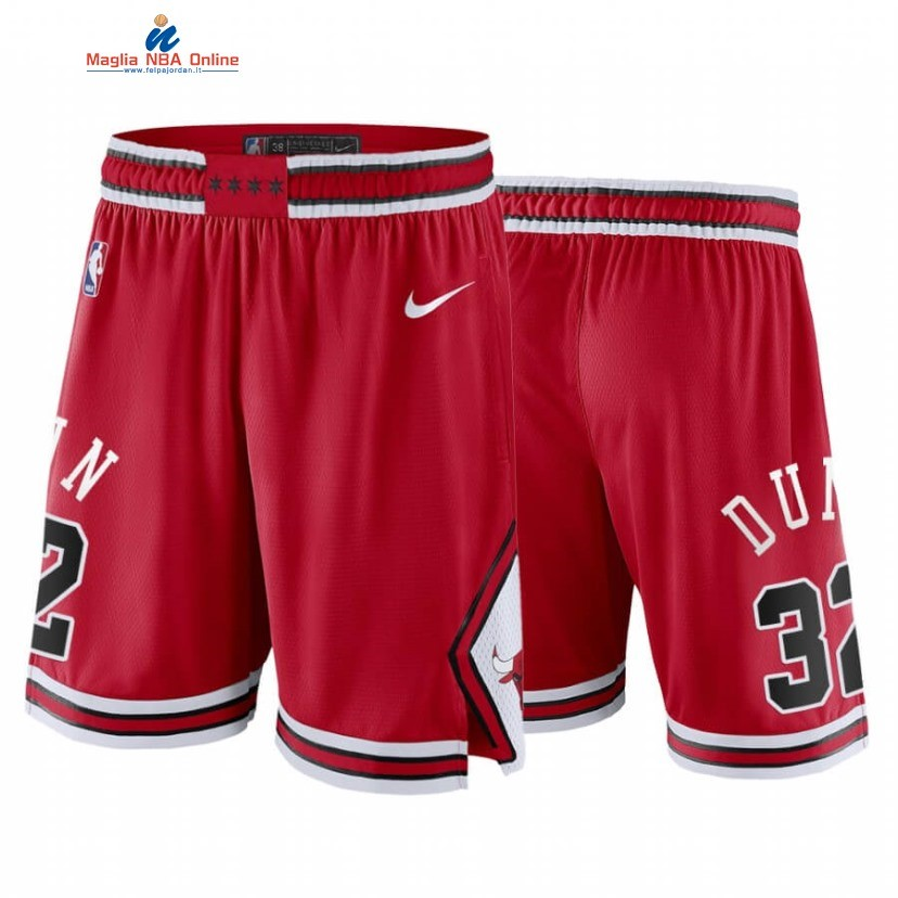Pantaloni Basket Chicago Bulls #32 Kris Dunn Rosso Icon 2020 Acquista
