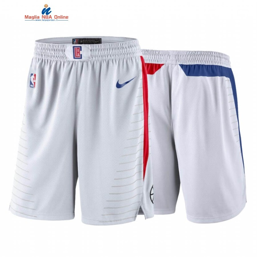 Pantaloni Basket Los Angeles Clippers Bianco Association 2020 Acquista