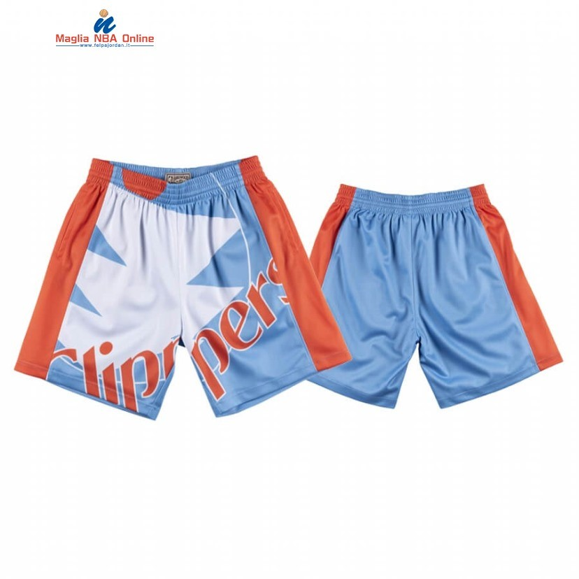 Pantaloni Basket Los Angeles Clippers Big Face Blu 2020 Acquista