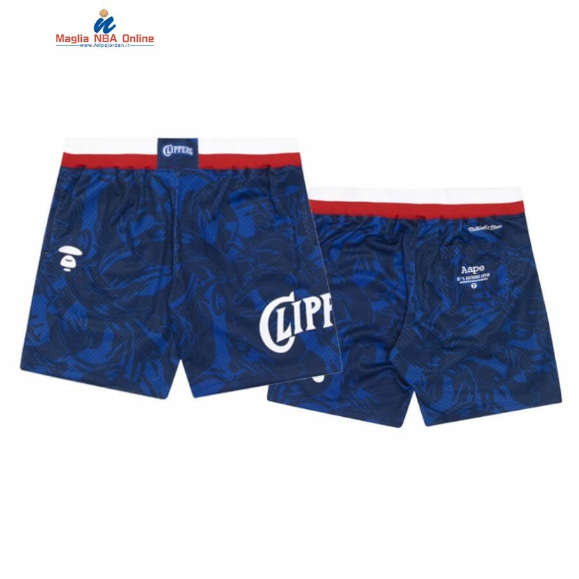 Pantaloni Basket Los Angeles Clippers Nike AAPE x M&N Blu 2020 Acquista