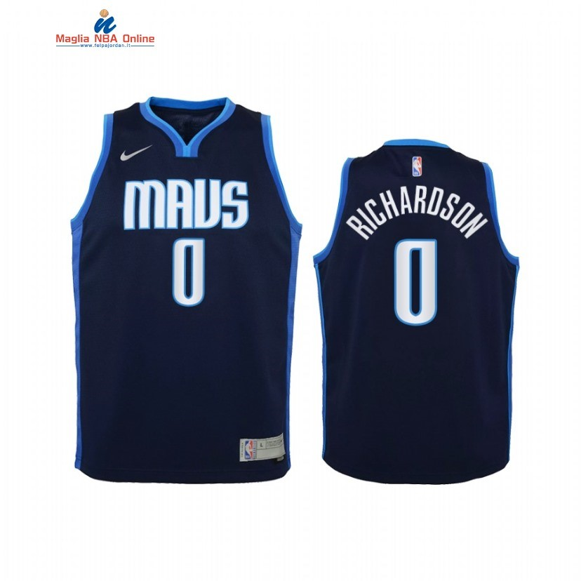 Maglia NBA Bambino Earned Edition Dallas Mavericks #0 Josh Richardson Marino 2021 Acquista