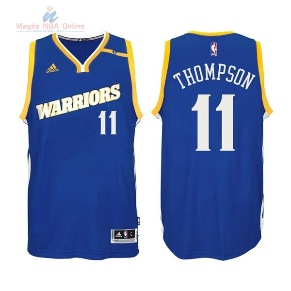 Acquista Maglia NBA Golden State Warriors #11 Klay Thompson 2016-2017 Blu