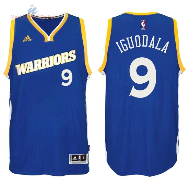 Acquista Maglia NBA Golden State Warriors #9 Andre Iguodala 2016-2017 Blu