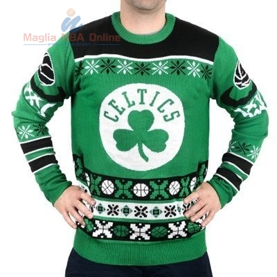 Acquista Maglione Ugly Unisex Boston Celtics Verde