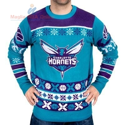 Acquista Maglione Ugly Unisex Charlotte Hornets Blu