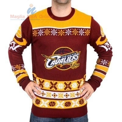 Acquista Maglione Ugly Unisex Cleveland Cavaliers Rosso Giallo
