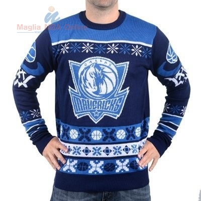 Acquista Maglione Ugly Unisex Dallas Mavericks Blu