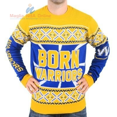 Acquista Maglione Ugly Unisex Golden State Warriors Giallo