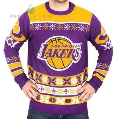 Acquista Maglione Ugly Unisex Los Angeles Lakers Giallo