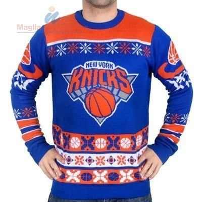Acquista Maglione Ugly Unisex New York Knicks Blu