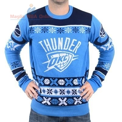 Acquista Maglione Ugly Unisex Oklahoma City Thunder Blu